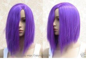 fashion Personality hair purple wig Free shipping(China (Mainland))