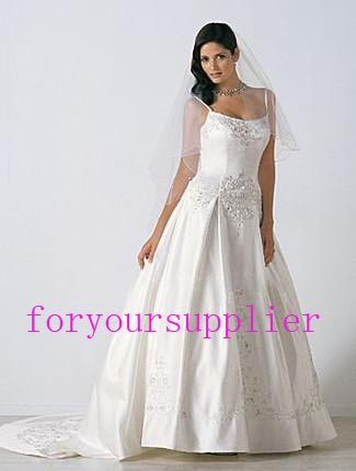 2013 New Applique Bridal Wedding Gown Custom Made China Supplier Wholesale wedding guest dresses(China (Mainland))