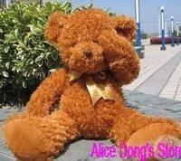 "23.5"" /60cm Shy Stuffed Animal Teddy Bear Toys Brown As Christmas Gift 5pcs/lot+Gift&Free Shipping"