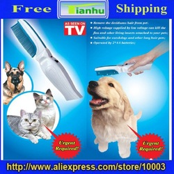 FREE SHIPPING:wholesale 10 pcs/lot New!High Voltage pet brush,pet comb,dog brush,Electronic Flea Killer Zapper Comb Brush(China (Mainland))