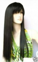New beautiful black hair straight fashion wig long  Free shipping 003