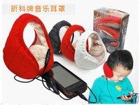 Waterproof cloth warm hi-fi music ear cover/ear warm with headphones  / Plush Headphone with 3.5mm Plug +FREESHIPPING