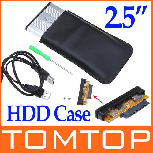 """2.5"""" 2.5 inch USB 2.0 HDD Case Hard Drive Disk SATA External Storage Enclosure Box freeshipping dropshipping Wholesale(China (Mainland))"""