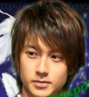 2010 new High Quality short brown black mixed men's wig Free shipping(China (Mainland))
