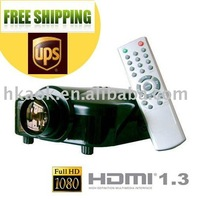 Good News ! 1080i Projector  LED Projector TV Tuner+HDMI+AV in+VGA+ Svideo+YPbPr/YCbCr  LED lamp life of 20,000 hours