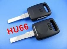 free shipping by hkp MOQ:1lot 5pcs/lot Audi A6 Transponder Key Shell durable in use