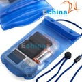 Blue Waterproof Dry Pouch Bag Case PVC for Cell Phone MP3 Hot Wholesale and Freeshipping 500 pcs