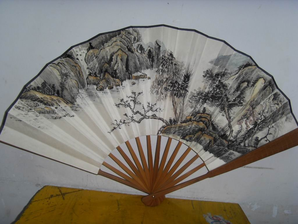 Chinese fans with ink water painting(China (Mainland))