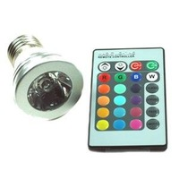 RGB LED 7 Color w/ Remote Control Lamp Light Bulb for free shipping
