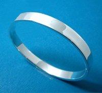 Free ship fee 925 sterling silver Class massive Lady Polish Solid bangle & bracelet B018