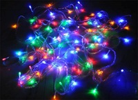 Lots of 20 pcs 220V 10M 100 LED String Fairy Lights Color Christmas