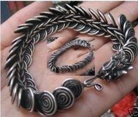 Fancy Jewellery Tibet silver men's dragons bracelet  shipping free