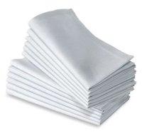 100% polyester plain white napkin 40cm*40cm