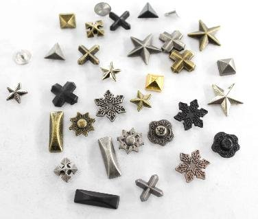 Free shipping Mix wholesale100pcs a lot DIY metal denim jeans rivets,Zinc alloy leather rivets,fashion garment rivet(China (Mainland))