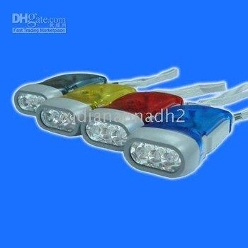 20pcs/lot freeshipping  Brand new Hand Press Powered Wind Crank 3 LED Flashlight torchlight