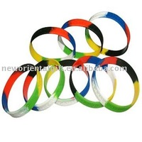 mix-color debossed  promotional Silicone gifts wristbands Gift &Free Shipping