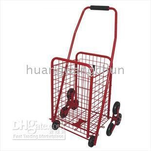 Red 2 pieces/lot Stair climbing truck basket Shopping Cart(China (Mainland))
