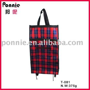 Ponnie folding shopping trolley bag P-T-081
