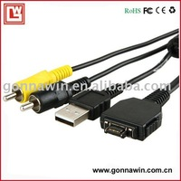 Free Shipping/Digital Camera Cable/ AV Cable for SONY P200/AV Cable for SONY P200