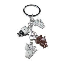 12pcs mixed style enamel keychain FREE SHIPPING