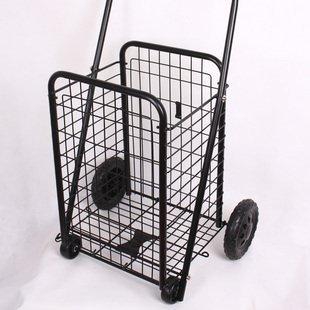 Folding basket truck Shopping Cart Black