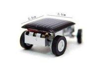 The smallest  design solar energy car mini toy car intelligent car 100pcs /lot free shipping