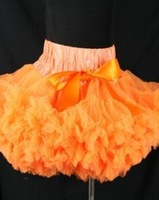 Wholesale 5PCS TUTU, girl's skirt ,pure color series-orange