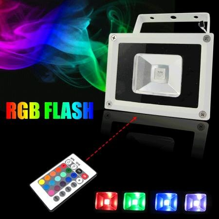 (UPS Free Shipping Fast) RGB Flood LED Light 10W(China (Mainland))