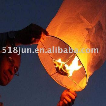 Wholesale - -wishing lamp/Kongming lantern/sky lanterns outdoor-flying festival celebration 300pcs /lot 300pcs/lot Free Shipping