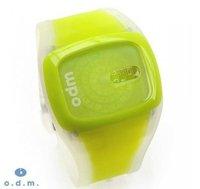50pcs/lot odm watch, spin watch ,jelly watch,plastic watch,candy watch hot!!!Free Shipping
