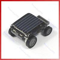 Free shipping!2pcs/lot!The World's Smallest Mini Solar Power Toy Car Racer New