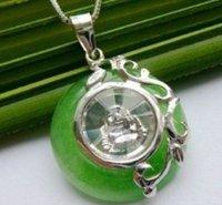 rotating cute lucky jade Buddha pendant shipping free