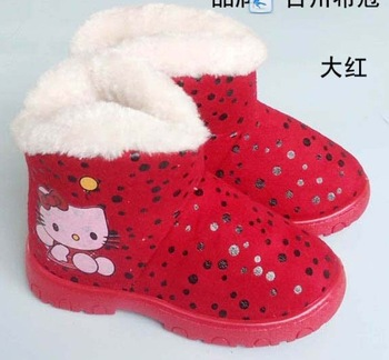 Promotional sale #001Christmas baby shoes, Christmas children shoes, winter baby booties,red color, hello kitty