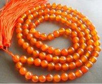 108 Pink Jade Beads Tibet Buddhist Prayer Mala Necklace shipping free 002
