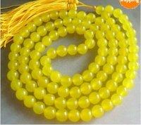 Tibetan Buddhist 108 Jade Prayer Beads Mala Necklace shipping free 050