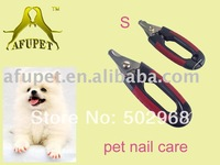 small size, pet nail care, pet nail clipper, red, 20pcs/lot