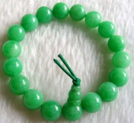 Green Jade Beads Tibet Buddhist Prayer Bracelet Mala shipping free(China (Mainland))