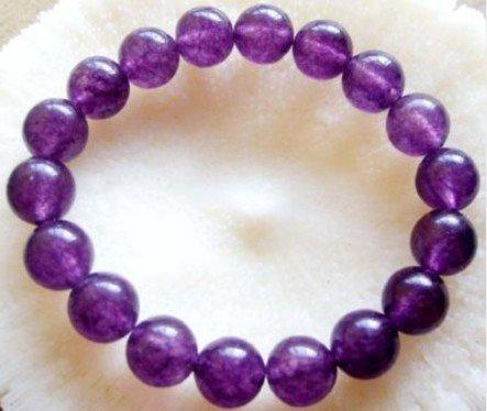 Oração Purple Jade Beads budista Mala Pulseira frete grátis(China (Mainland))