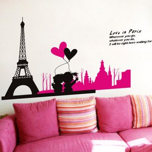 EIFFEL TOWER Vinyl Home Wall Art Decal Sticker Mural