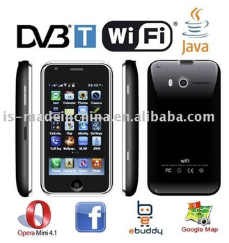 "L007+3.2""+DVB-T TV+WIFI+Dual Camera+JAVA+Bluetooth+Dual SIM Dual Standby cell phone"