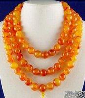 Wonderful rare chinese tibet amber 108 beads necklace shipping free