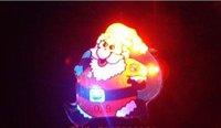 Christmas Flashing Broochs Light up Christmas badge Santa Broochs Xmas Decoration 500pcs/Lot Fast Shipping EMS Christmas Gifts