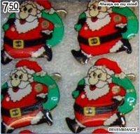 Santa Brooch Christmas Broochs Xmas Badge Led Flashing Breast Pin Party Decoration Wholesale Free Shipping