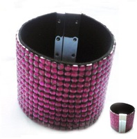 2010 new styles, fashion jewelry 13rows trendy magnetic bracelet fuchsia color 20pcs\lot