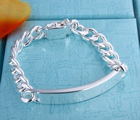 Fashion Jewelry MEN'S bracelet 925 sterling silver 10MM 8inchBest, price ever, Free & fast shipping 2590