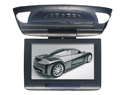 Flip Down and Roof Mounted Monitor for Universal car With 2 Vedio input and one Audio(China (Mainland))
