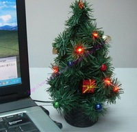 Novelty christmas trees,Christmas tree with LED light,USB Xmas tree,USB Christmas tree,10pcs/lot+Free shipping!