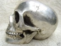 Vintage collectible solid silver skull by EMS 100% free shipping