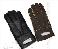 A men's fur leather gloves cycling gloves super warm new models free shipping wholesale 10pcs