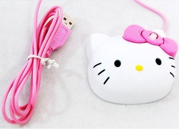 Freeshipping Wholesale 10X+New Hello Kitty USB PC Computer Optical Maus Mouse